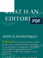 What is an Editorial