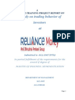 19011113 Reliance Money Project Report