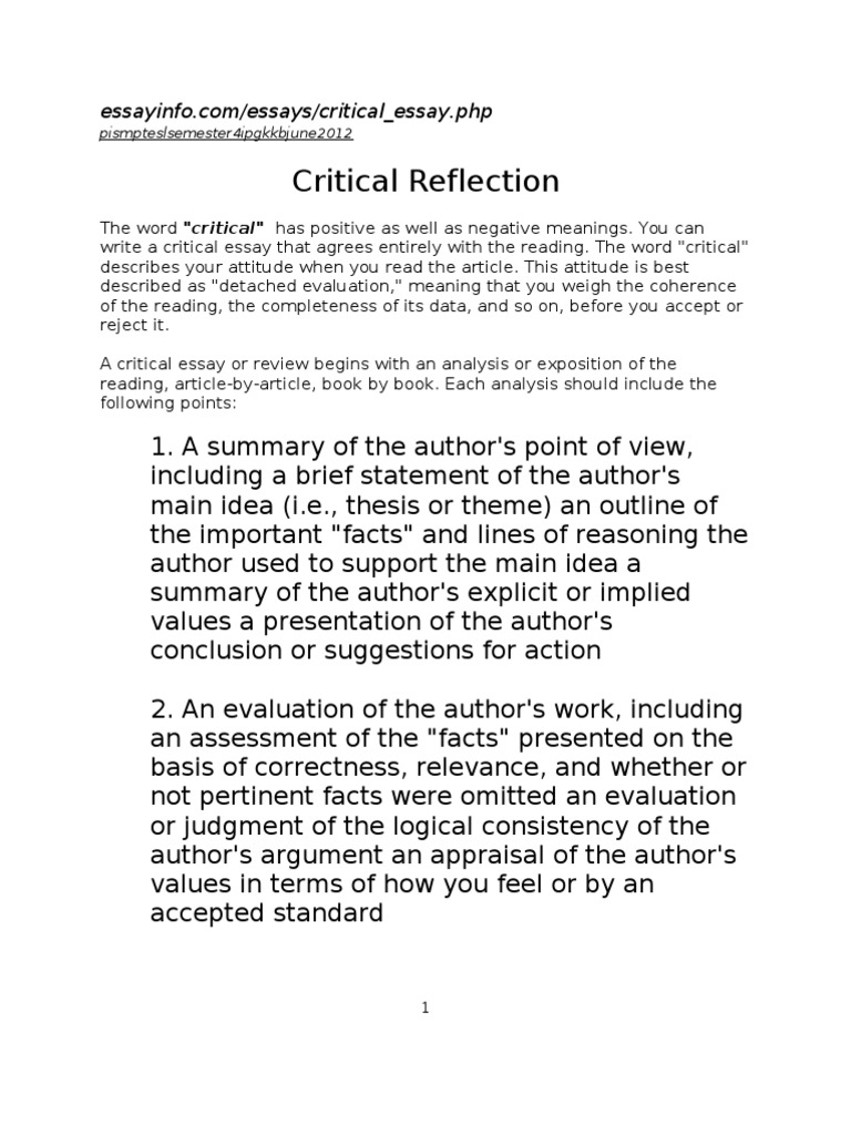 critical reflection on working with number of colleagues The capability of people to perform the work or job that they do falls into three areas: emotional intelligence we also have critical reflection.