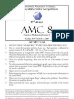 2007 AMC 8 Practice Test (Released)