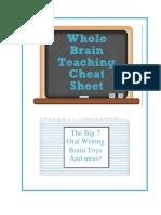 Whole Brain Cheat Sheet in (Editable Word Format)