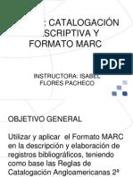 Curso catalogación descriptiva y formato MARC presentación  (ifp)