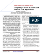 Deployment of Computing Clusters in MultiCloud Environment for MTC Applications