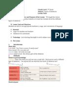 Lesson Plan in Sentences