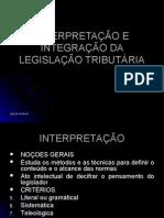 Interpretação e Integração da Legislação  Tributária