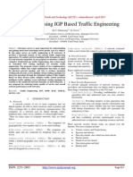 AMPLE Using IGP Based Traffic Engineering