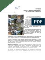CRISIS FINANCIERA MUNDIAL EN EL SECTOR TURISTICO