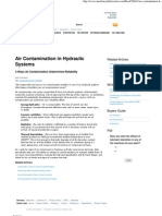 Air Contamination in Hydraulic Systems