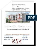 33394625 FINAL Project of Stock Market Ankit