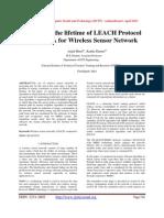 Enhancing the lifetime of LEACH Protocol using NNA for Wireless Sensor Network