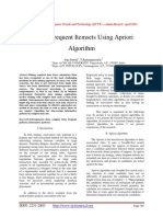 Mining Frequent Itemsets Using Apriori Algorithm