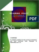 Rehiring Policy
