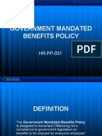 Government Mandated Benefits Policy