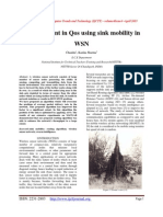 Improvement in Qos using sink mobility in WSN