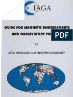 IAGA Guide for Geomagnetic Observatories.