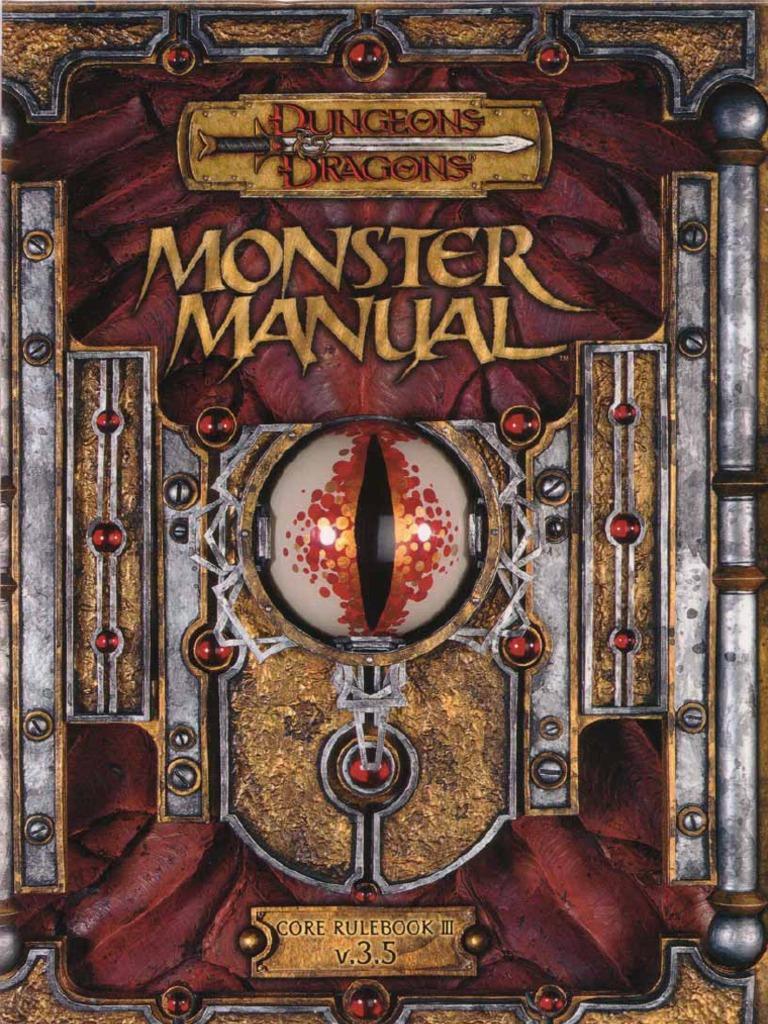 monster manual 3 5 rh scribd com Dnd Monster Manual 2 3 5 Monster Manual 3.0