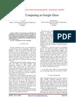 Cloud Computing in Google Glass