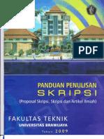 135195700 Panduan Skripsi Fakultas Teknik Universitas Brawijaya 2009 PDF