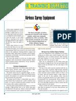 Applicator Training Bulletin Using Airless Spray Equipment
