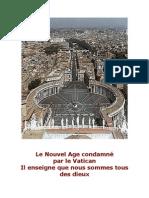 Le Nouvel age est condamné par le Vatican