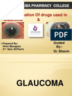 Evaluation of drugs acting on glaucoma & cataract By Hiren
