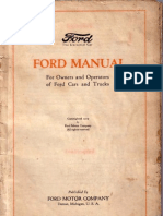 Ford Model T Owners Manual 1919