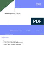Chapter 01_ABAP Programming Language