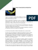 ANÁLISIS FINAL DE LA  CRISIS FINANCIERA EN ARGENTINA