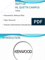 Presentation Kenwood