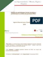 Validação Aprendizagens Formais_Versão Final.ppt