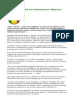 Lancement au Sénégal du prix de l'innovation pour l'Afrique 2014