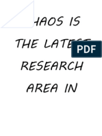 Chaos Research Direction