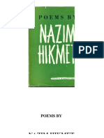 Poems by Nazim Hikmet, New York, 1954