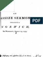 Glocester Ridley - Assizes Sermon 1753