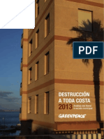 Analisis de urbanizacion en COSTAS ESPAÑOLAS - Greenpeace 2013