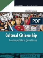 Cultural Citizenship - Cosmopolitan Questions