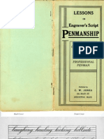 [Jones, C W , Editor] Lessons in Engraver's Script