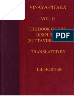 Horner I B Tr Book of the Discipline Vinaya Pitaka Vol II Suttavibhanga 498p