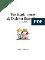 Test Exploratorio de Dislexia Específica (TEDE)