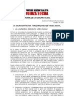 Informe de Coyuntura Politica, Final
