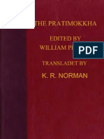 Pruitt William Ed Norman K R Tr Patimokkha 364p