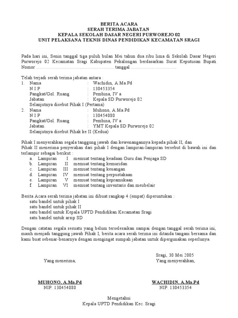 14+ Contoh surat berita acara serah terima jabatan terbaru terbaru