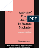 Analysis of Concrete Structures by Fracture Mechanics by Elfgreen and Shah