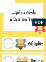 bee schedule pocket cards tpt preview