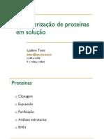 Caracterização de proteínas