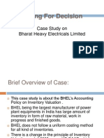 Bhel Case Study
