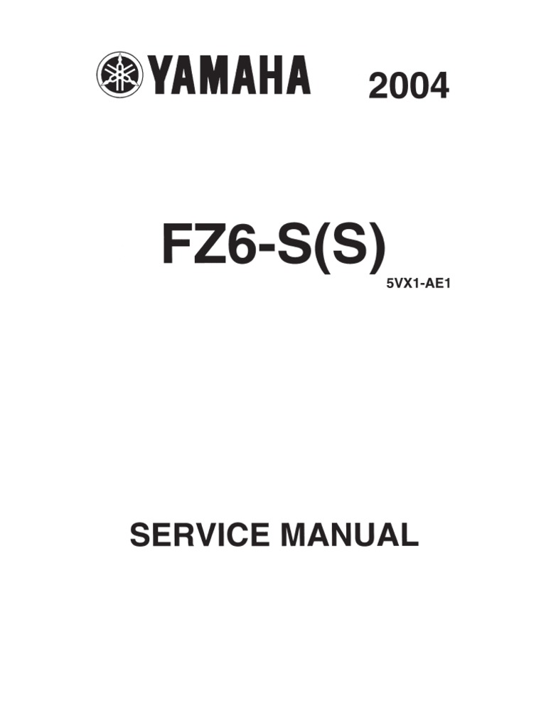 yamaha fz6 s 2004 europe service manual screw