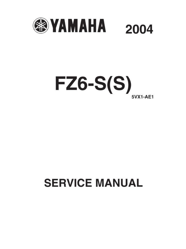 yamaha fz6 s 2004 europe service manual fuel injection screw rh scribd com