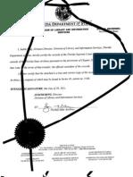 Certified Signed FL Mtg Banker Admit Notes Destroyed-margin Highlights