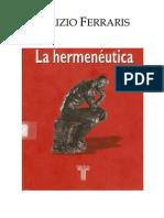 Maurizio Ferraris Hermeneutica